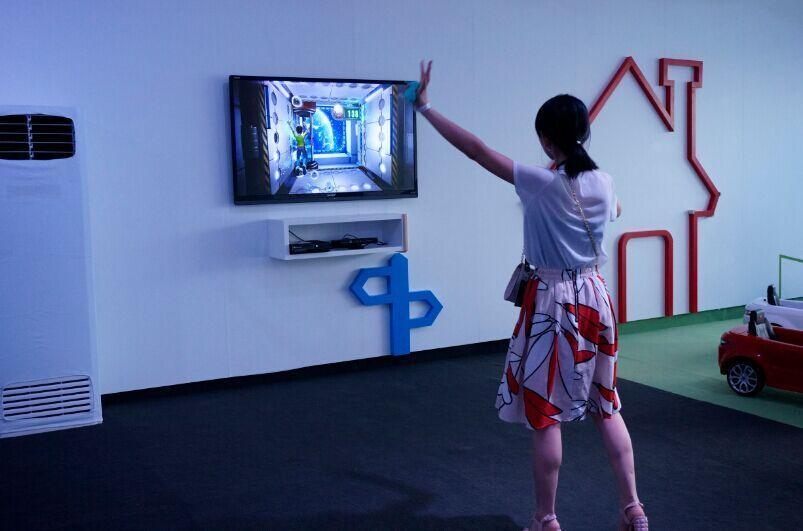 在游戏体验互动区体验体感游戏所带来的快感图片