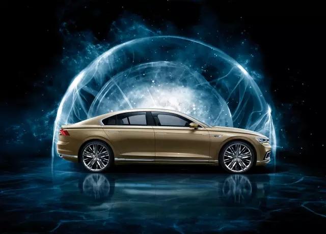 手绘汽车未来科技感